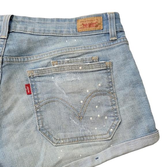 Women's Levi's Paint Splatter Jean Shorts Sz 7